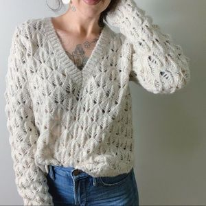 {aritzia} WILFRED Messac Open Knit Sweater